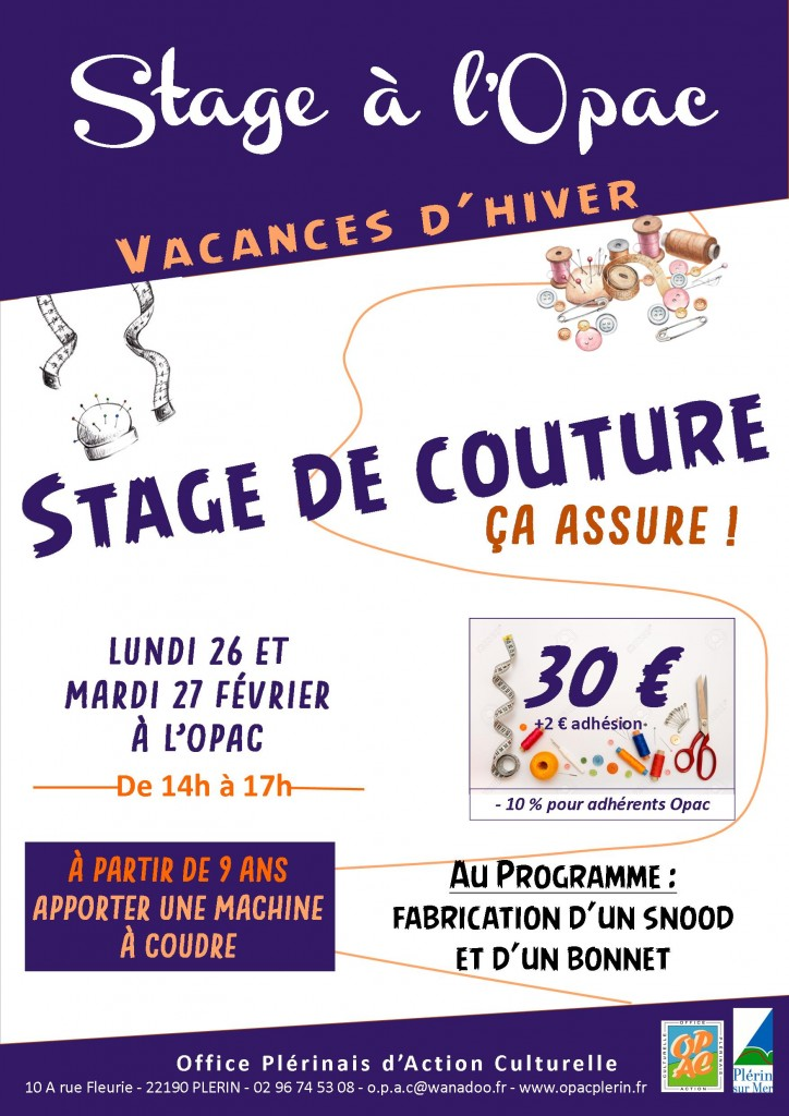 affiche stage couture
