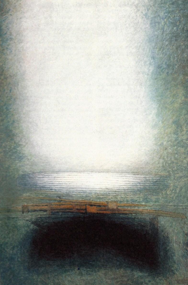 Yvon Le Corre. Peinture. Les rames.  1986.
